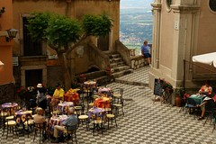 Sicily-Italy (tollen) Tags: italy cafe colorful view bright tourists sicily embarrassed blushing sorrydidnotmeantomisspell