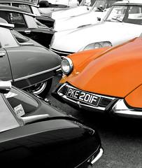 Goddesses (Rich007) Tags: uk greatbritain england orange classic car french classiccar unitedkingdom citroen ds goddess gb slough berkshire citroends hydraulic