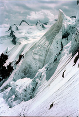 Midi Plan Ridge Descent (Kev Bailey) Tags: ice climbing alpine midi oldscan serac
