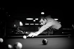 The cool of pool (DHaug) Tags: blackandwhite pool billiards ottawa doolys pooltable socialevent christmas gathering goodfun focused fujifilm xf23mmf14r xt2