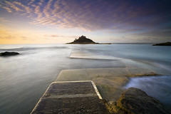 St Michaels Mount ii (antonyspencer) Tags: st sunrise island coast high cornwall tide mount michaels penzance marizion
