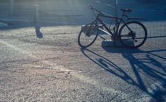 (miemo) Tags: light shadow bike bicycle fence finland spring helsinki europe industrial olympus urbanexploration asphalt cannondale omd sompasaari olympus45mmf18 em5mkii
