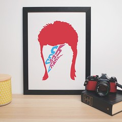 CH CH CH CHANGES poster (ingridesign) Tags: music art face illustration poster typography design bowie graphic text indoor icon simplicity changes davidbowie simplistic ziggystardust ingridesign