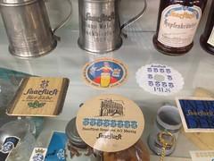 """Brauereimuseum Schalander / Vitrine 5 """"Aktienbrauerei Merzig"""" (micky the pixel) Tags: museum brauereimuseum bier beer saarfürst merzig krug bierdeckel coaster eppelborn mangelhausen saarland deutschland germany saarfürstpilsener saarfürstbiereiche pilssaarfürst export aktienbrauereimerzig"""