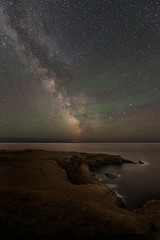 Night at Cape St. George (Sandra Herber) Tags: canada night port newfoundland stars au astrophotography peninsula milkyway capestgeorge