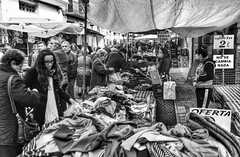 Saturday Market. (PhotoMont) Tags: bw espaa blancoynegro monochrome blackwhite spain flickr sony amateurs flickraddicts bwdreams blackwhitedigital firstphotographers fvac valenciatourism hispanicphotographers