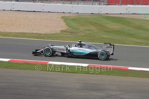 Nico Rosberg in the 2015 British Grand Prix at Silverstone