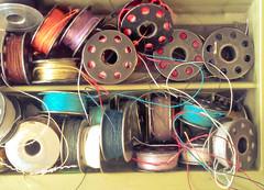 bobbins (Kookoo sabzi) Tags: sharon helen threads bobbins july2015