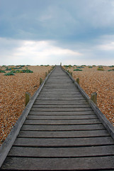 Dungeness beach (molly_may) Tags: wood england sky beach clouds sussex coast walk pebbles east dungeness camber