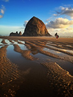 Follow the lines to Haystack Rock - iPhone