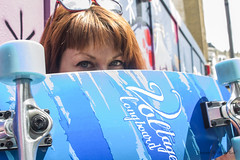 Nina (SandraPardoGerena) Tags: blue london relax cool model blueeyes londres skateboard nina bricklane latviangirl