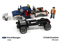 Ford Ranger X Cab Pickup (1996 - FNA Custom Offroad) - What's Inside (lego911) Tags: auto usa ford car america truck team model ranger lego stuck offroad suspension render 1996 engine 4wd utility pickup ute technic frame custom challenge 92 1990s 90s cad lugnuts assembly v6 povray moc bof ldd p150 miniland lego911 stuckinthe90s