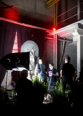 Photo ops with Baphomet (burnlab) Tags: party art statue religion detroit performance event tst civilrights culturejamming baphomet theunveiling nontheistic thesatanictemple