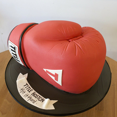 Title Boxing Glove Cake
