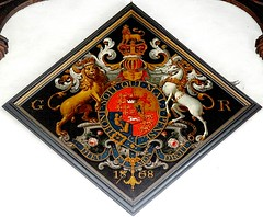 [33991] St Martin, Stamford : Royal Arms (Budby) Tags: church heraldry coatofarms arms lincolnshire stamford heraldic burghleyhouse royalarms