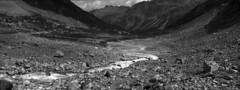 Morteratschgletscher, xpan (Fabio Stoll) Tags: mountains alps analog switzerland blackwhite stones gletscher selfdeveloped morteratsch kodaktrix400 epsonv700 morne koadakhc110 morteratschgalcier hasselblandxpan2