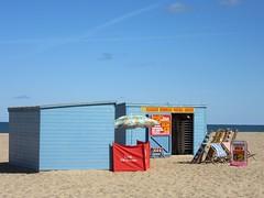 Back to Summer (LookaroundAnne) Tags: beach summer seaside blue greatyarmouth yarmouth norfolk beachhut deckchairs