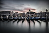 Sunset over Canal Grande (alexanderkoch) Tags: vendig venezia gondola gondel italy italien italia canalgrande canal kanal water wasser sea meer lagune laguna venezien sonnenuntergang sunset