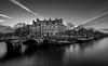 Papiermolensluis bw (Mario Visser) Tags: papiermolensluis amsterdam netherlands canal bridge blackandwhite water longexposure boot old unesco mariovisser sigma1020 nikon d7100
