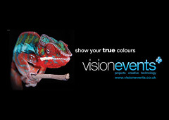 VisionEvents logo + caption
