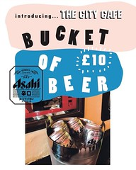 Pleased to Introduced the Bucket of Asahi Beer. £10 for a bucket of ice cold beers to sooth make these long winter nights a little less dark. Just remember summer is coming soon 🍺 #beer @asahibeer #asahi #japenese #deal #edinburghdeal #edinburghdrink (The City Cafe Edinburgh) Tags: instagram city cafe edinburgh food diner eating bar drinking scotland citycafe