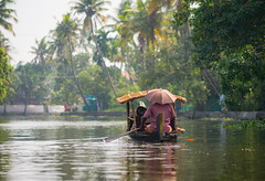 Kerala Backwaters (TeunJanssen) Tags: kerala backwaters india palmtrees water river olympus omd omdem10 travel traveling backpacking boat tourists kanoo alleppey