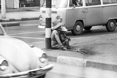 (np485) Tags: thailand bangkok streetsweeper worker roads traffic peagam