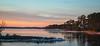 First Light and Ice (harold.burnley) Tags: barnescreek clouds firstlight ice sky snow water kilmarnock virginia unitedstates us