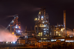 Port Talbot steel works (technodean2000) Tags: port talbot steel works south wales uk night sky line panorama lightroom outdoor city architecture skyline water waterfront