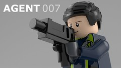 Agent Lego (Brick-project) Tags: lego blender render minifigure fig agent spy