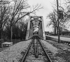 Blissfield Railroad Bridge (Janet's View2012) Tags: railroad bridge riverraisin river blissfieldmichigan