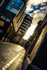down the road in dublin (Eddy Alvarez) Tags: dublin ireland urban street sunset building sky clouds warm outdoor