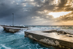 LHP Seapool (WhitcombeRD) Tags: wind westbay grand nature rough weather waves dock caribbean pool smooth caymanislands cayman gloomy ocean winter sea storm