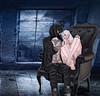 Yes, I will protect you (Kitty-Whiskers) Tags: bento mask chair protect love cherish cute couple cuddle dark gothic grungy daddy protector heart bunny pink black white blue danger abiss naberius cerberus swallow astrailia catwa gabriel tsg truth fuel epiphany kustom9
