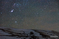 Orion Hillside (kevin-palmer) Tags: fetterman monument battlefield story wyoming january winter night sky stars starry dark astronomy astrophotography snow cold orion orionsbelt nebula m42 m43 nikond750 tamron2470mmf28 lodgetrailridge clear