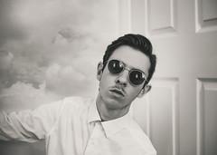 17/365 (Chris Gray Photo) Tags: portrait portraiture selfportrait self blackandwhite monochrome clouds people indoors sunglasses canon 50mm fineart 365project