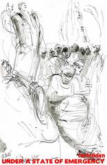 La premire Assemble au parc ole. Camps de La Chapelle (Laura Genz) Tags: africa camp paris france ink sketch drawing refugee refugees sudan meeting dessin libya chapelle afrique soudan campement lachapelle migrant assemble libye 2015 migrants ole eole erythre rfugis rfugi pajol erythrea parceole parcole hallepajol