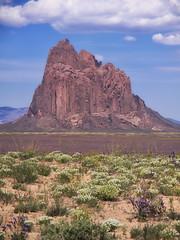 Shiprock (Pam Sinderson) Tags: usa newmexico landscape us unitedstates northamerica geology shiprock rockformation navajoindianreservation