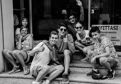Italian youth (Davide Schito) Tags: street people bw blackwhite persone streetphoto crema