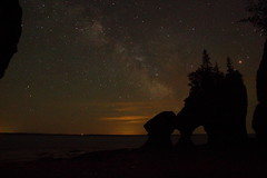 Milky Way At The Rocks (Tim's World) Tags: longexposure trees nature water stars milkyway hopewellrocks