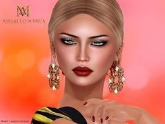 [AMARELO MANGA] - Maya Earring (Luana Barzane / CEO [AMARELO MANGA]) Tags: woman female mesh manga jewelry collection amarelo earrings mainstore