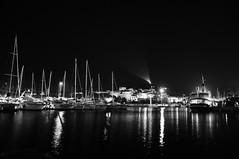 Porticciolo turistico, Arbatax, OG (nutttella1981) Tags: mare inverno biancoenero notturno baia portofrailis porticcioloturistico