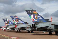 Trio Tornado's German, Royal & Italian Air Force (Weeman Photography) Tags: germany italian force air year 35 tornado ecr raf fairford livery riat panavia 4571