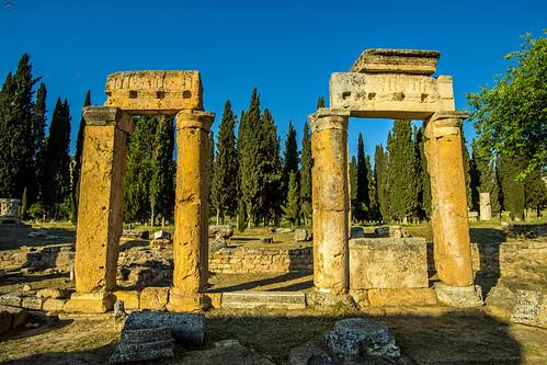 columns in frontinus street, in hierapolis - pamukkale, turkey 2