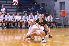 IMG_8306 (SJH Foto) Tags: girls volleyball high school york delone catholic team teen teenager dig bump burst mode