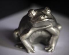 Frog (San Francisco Gal) Tags: macromondays corners frog pewter macro