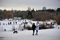 Vancouver trout lake (jeslu) Tags: vancouver trout lake opened for skating snow dogs d700 70 nikon70300mmvr