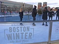 Boston Winter: Skating (AntyDiluvian) Tags: boston massachusetts winter holidayseason cityhall cityhallplaza bostonwinter skating skaters rink