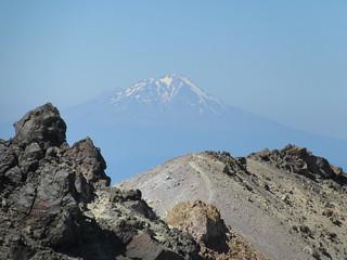Mt. Shasta from Lassen Peak in Lassen Volcanic national park