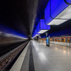 Blue (katrin glaesmann) Tags: hamburg tube metro ubahn station ubahnhof hvv u4 hafencityuniversität colour train